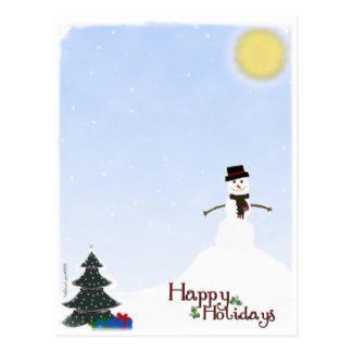 Happy Holiday Snowman Postcard