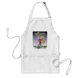 happy holiday soccer fans adult apron