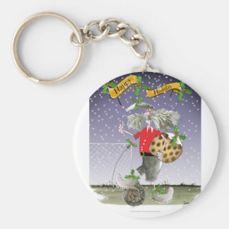 happy holiday soccer fans keychain