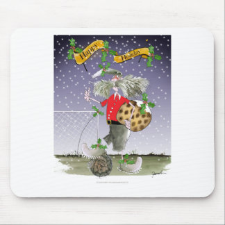 happy holiday soccer fans mouse pad
