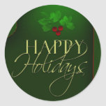 Happy Holiday stickers