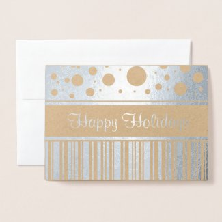 Happy Holiday Stripes and Polka Dots