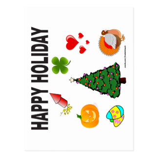 HAPPY HOLIDAY T-SHIRTS AND GIFTS POSTCARD