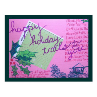 Happy Holiday Trails Postcard