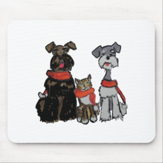Happy Holiday Trio Mouse Pad