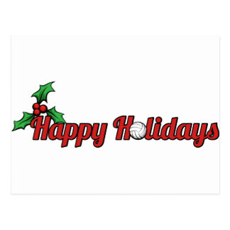 Happy Holiday Volleyball Christmas Postcard