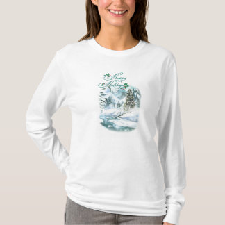 Happy Holiday Winter Painting T-Shirt