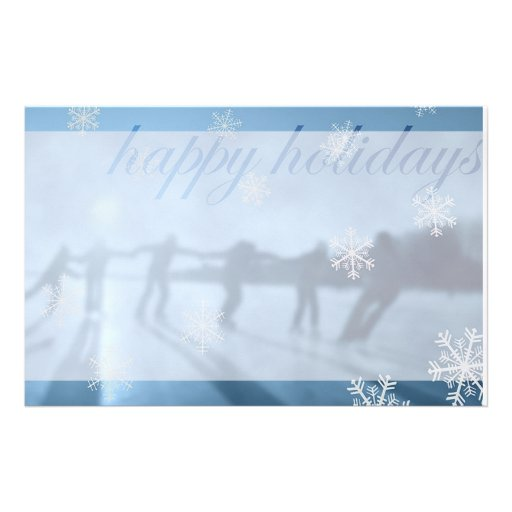 Happy Holiday WInter Stationery