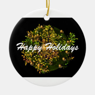 Happy Holiday Wreath Ornament