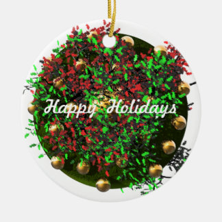 Happy Holiday Wreath Ornaments