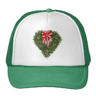 Happy Holiday wreath Trucker Hat
