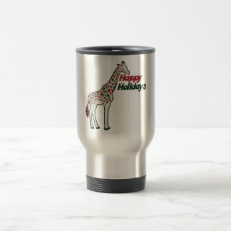 Happy Holidays 15 Oz Stainless Steel Travel Mug