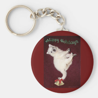 Happy Holidays 1 And All Basic Round Button Keychain