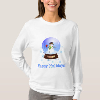 Happy Holidays 2011 Snowglobe Ladies T-shirt