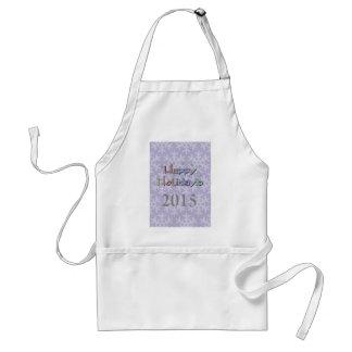 happy holidays 2015 adult apron