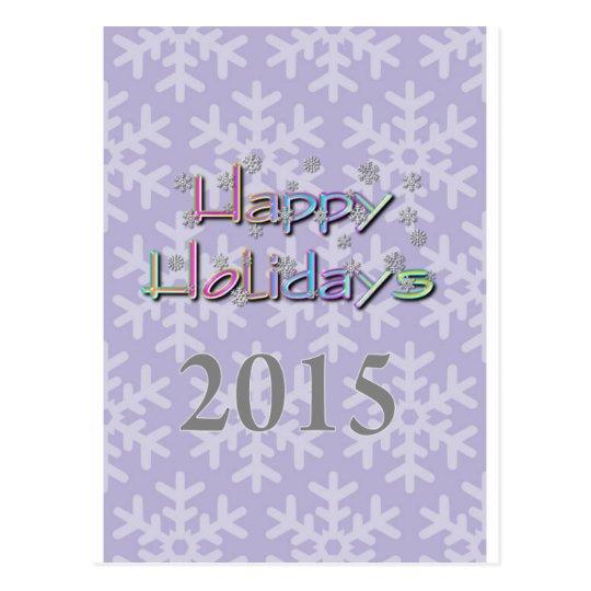 happy holidays 2015 postcard