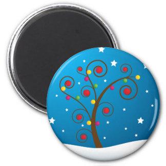 Happy Holidays 2 Inch Round Magnet