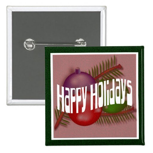 Happy Holidays 3 Button