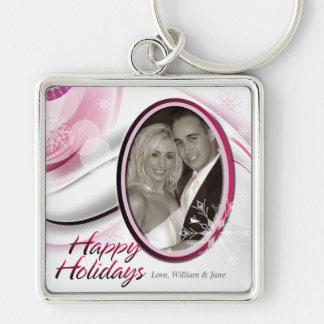 Happy Holidays 3 Keychain