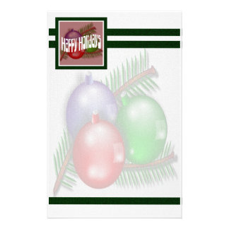 Happy Holidays 3 Stationary Stationery Paper