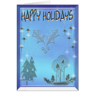 happy holidays 3D Card