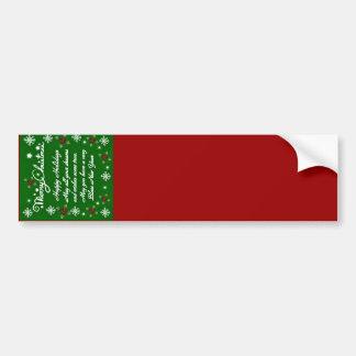 Happy Holidays#4_ Bumper Sticker