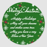 Happy Holidays#4_ Sticker
