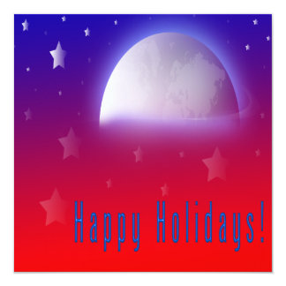 Happy Holidays 5.25 X 5.25 Christmas Party Invitat Card