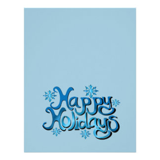 Happy Holidays 8.5x11 Stationary Letterhead