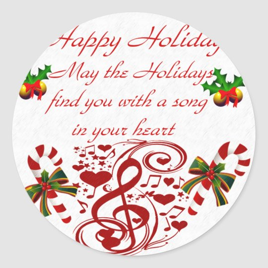 Happy Holidays#9_ Classic Round Sticker
