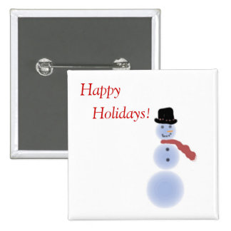 """Happy Holidays"" - A Simple Snowman Button"