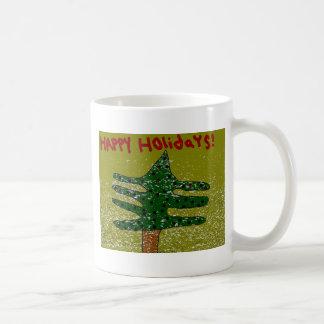 Happy Holidays Abstract Christmas Mug