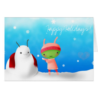 Happy Holidays! Alien 1 Greeting Card