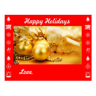 Happy Holidays and Personalize with your names Postcard