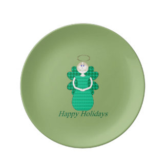 Happy Holidays Angel Dinner Plate