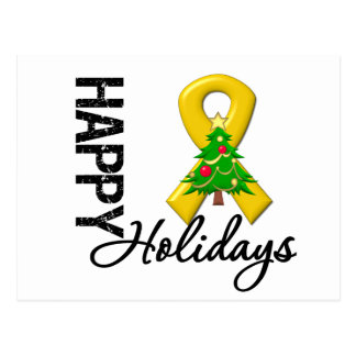 Happy Holidays Appendix Cancer Awareness Postcard