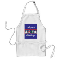 Happy Holidays apron