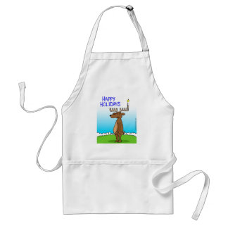 Happy Holidays apron - Channukah and Christmas