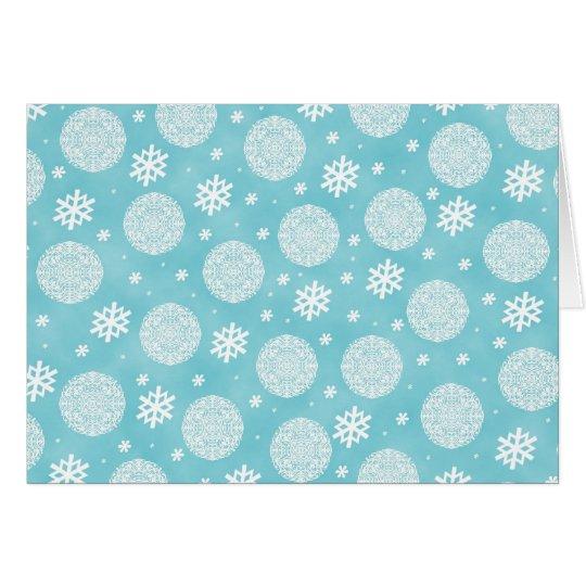 Happy Holidays - aqua blue Card