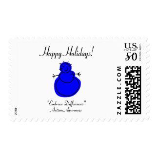 Happy Holidays (Autism) Postage