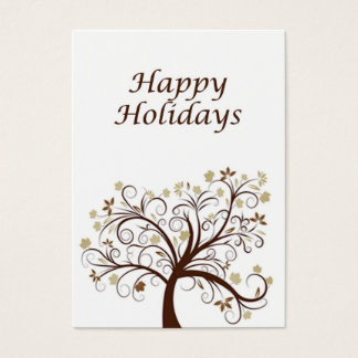 Happy Holidays Autumn Tree Business Card