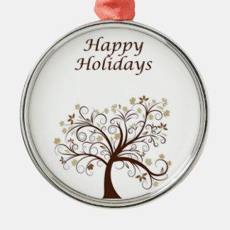 Happy Holidays Autumn Tree Ornament