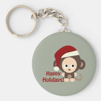 Happy Holidays! Baby Monkey Keychain
