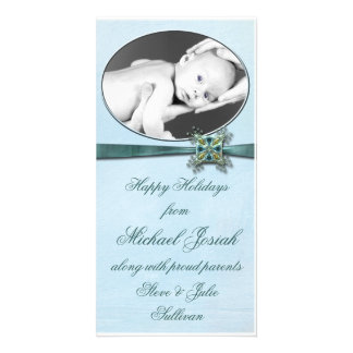 Happy Holidays Baby Picture Card