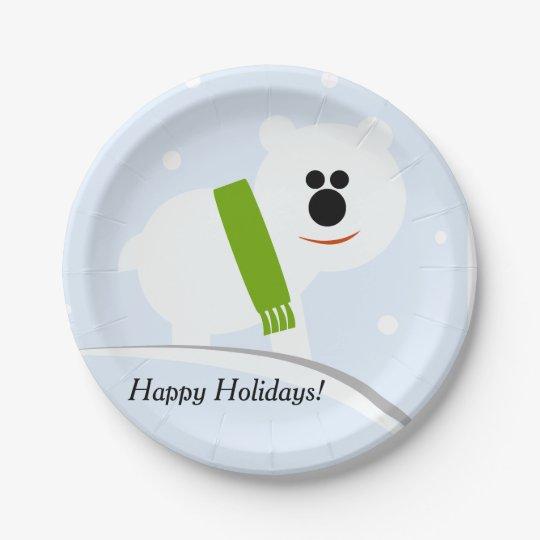 Happy Holidays Baby Polar Bear Paper Plates  sc 1 st  Zazzle & Happy Holidays Baby Polar Bear Paper Plates | Zazzle.com