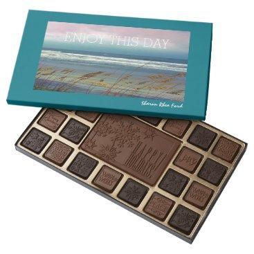 Beach Themed Happy Holidays - Beach Scene - Chocolate Candy