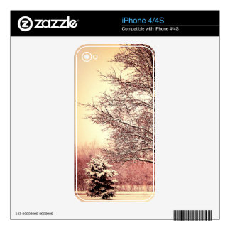 Happy Holidays beautiful winter landscape Skin For The iPhone 4S