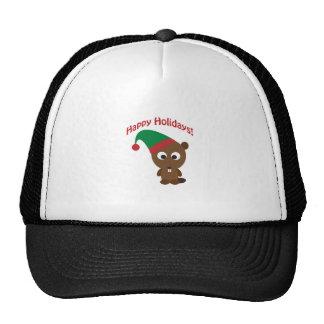Happy Holidays! Beaver Christmas Elf Trucker Hat