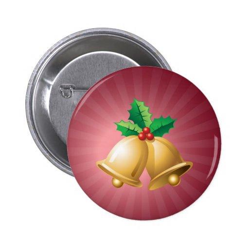 Happy Holidays Bells 2 Inch Round Button