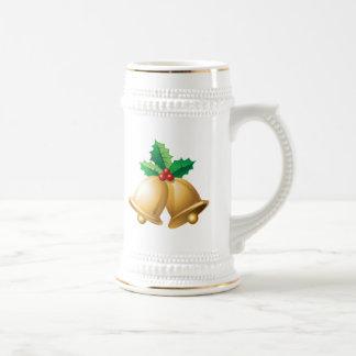 Happy Holidays Bells Beer Stein